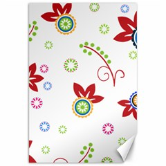 Colorful Floral Wallpaper Background Pattern Canvas 20  x 30