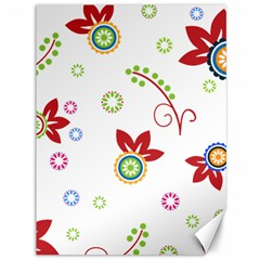 Colorful Floral Wallpaper Background Pattern Canvas 36  X 48