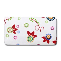 Colorful Floral Wallpaper Background Pattern Medium Bar Mats