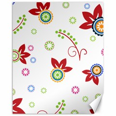 Colorful Floral Wallpaper Background Pattern Canvas 11  X 14