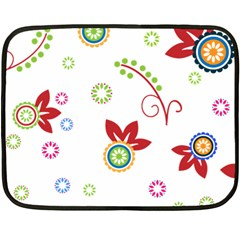 Colorful Floral Wallpaper Background Pattern Double Sided Fleece Blanket (mini)