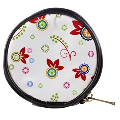 Colorful Floral Wallpaper Background Pattern Mini Makeup Bags