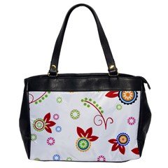 Colorful Floral Wallpaper Background Pattern Office Handbags