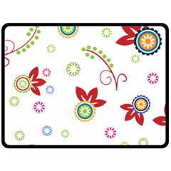 Colorful Floral Wallpaper Background Pattern Fleece Blanket (large)