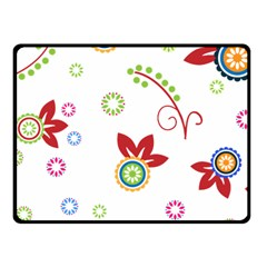 Colorful Floral Wallpaper Background Pattern Fleece Blanket (small)