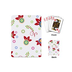 Colorful Floral Wallpaper Background Pattern Playing Cards (mini)