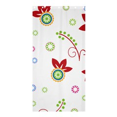 Colorful Floral Wallpaper Background Pattern Shower Curtain 36  X 72  (stall)