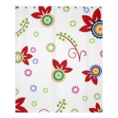 Colorful Floral Wallpaper Background Pattern Shower Curtain 60  X 72  (medium)