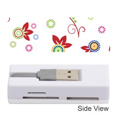 Colorful Floral Wallpaper Background Pattern Memory Card Reader (Stick)