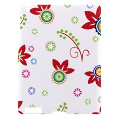 Colorful Floral Wallpaper Background Pattern Apple Ipad 3/4 Hardshell Case
