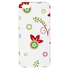 Colorful Floral Wallpaper Background Pattern Apple Iphone 5 Hardshell Case