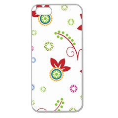 Colorful Floral Wallpaper Background Pattern Apple Seamless Iphone 5 Case (clear)