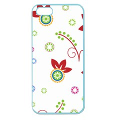 Colorful Floral Wallpaper Background Pattern Apple Seamless Iphone 5 Case (color)