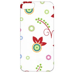 Colorful Floral Wallpaper Background Pattern Apple Iphone 5 Classic Hardshell Case