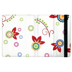 Colorful Floral Wallpaper Background Pattern Apple Ipad 2 Flip Case
