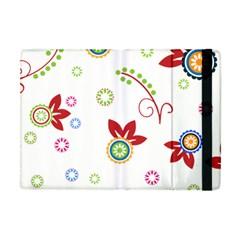 Colorful Floral Wallpaper Background Pattern Apple Ipad Mini Flip Case