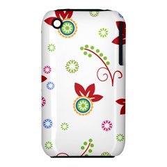 Colorful Floral Wallpaper Background Pattern Iphone 3s/3gs
