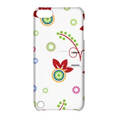 Colorful Floral Wallpaper Background Pattern Apple Ipod Touch 5 Hardshell Case With Stand