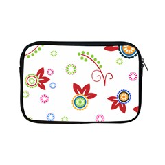 Colorful Floral Wallpaper Background Pattern Apple Ipad Mini Zipper Cases