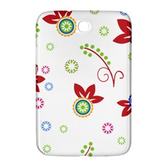 Colorful Floral Wallpaper Background Pattern Samsung Galaxy Note 8 0 N5100 Hardshell Case