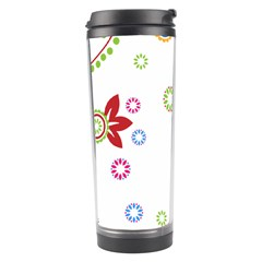 Colorful Floral Wallpaper Background Pattern Travel Tumbler