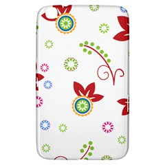 Colorful Floral Wallpaper Background Pattern Samsung Galaxy Tab 3 (8 ) T3100 Hardshell Case