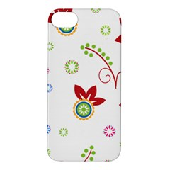 Colorful Floral Wallpaper Background Pattern Apple Iphone 5s/ Se Hardshell Case