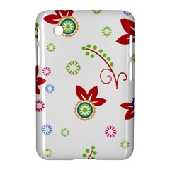Colorful Floral Wallpaper Background Pattern Samsung Galaxy Tab 2 (7 ) P3100 Hardshell Case