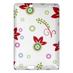 Colorful Floral Wallpaper Background Pattern Amazon Kindle Fire Hd (2013) Hardshell Case