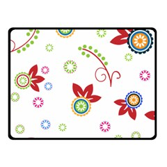 Colorful Floral Wallpaper Background Pattern Double Sided Fleece Blanket (Small)