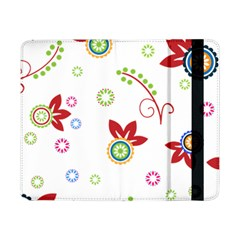 Colorful Floral Wallpaper Background Pattern Samsung Galaxy Tab Pro 8 4  Flip Case