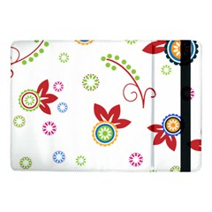 Colorful Floral Wallpaper Background Pattern Samsung Galaxy Tab Pro 10 1  Flip Case