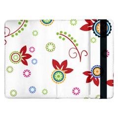 Colorful Floral Wallpaper Background Pattern Samsung Galaxy Tab Pro 12.2  Flip Case