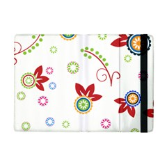 Colorful Floral Wallpaper Background Pattern Ipad Mini 2 Flip Cases