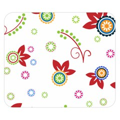 Colorful Floral Wallpaper Background Pattern Double Sided Flano Blanket (small)