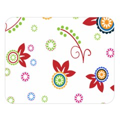 Colorful Floral Wallpaper Background Pattern Double Sided Flano Blanket (large)