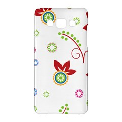 Colorful Floral Wallpaper Background Pattern Samsung Galaxy A5 Hardshell Case