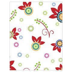 Colorful Floral Wallpaper Background Pattern Drawstring Bag (Large)