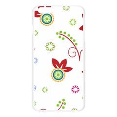 Colorful Floral Wallpaper Background Pattern Apple Seamless iPhone 6 Plus/6S Plus Case (Transparent)