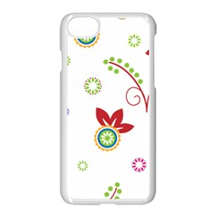 Colorful Floral Wallpaper Background Pattern Apple Iphone 7 Seamless Case (white)