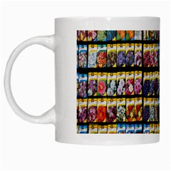 Flower Seeds For Sale At Garden Center Pattern White Mugs