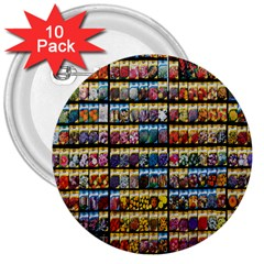 Flower Seeds For Sale At Garden Center Pattern 3  Buttons (10 Pack)