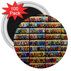 Flower Seeds For Sale At Garden Center Pattern 3  Magnets (100 Pack)