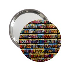 Flower Seeds For Sale At Garden Center Pattern 2 25  Handbag Mirrors