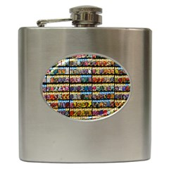 Flower Seeds For Sale At Garden Center Pattern Hip Flask (6 Oz)