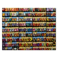 Flower Seeds For Sale At Garden Center Pattern Rectangular Jigsaw Puzzl