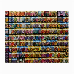 Flower Seeds For Sale At Garden Center Pattern Small Glasses Cloth