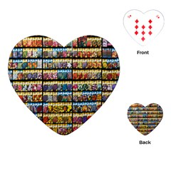 Flower Seeds For Sale At Garden Center Pattern Playing Cards (heart)