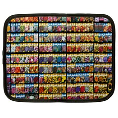 Flower Seeds For Sale At Garden Center Pattern Netbook Case (xl)
