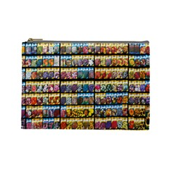 Flower Seeds For Sale At Garden Center Pattern Cosmetic Bag (Large)